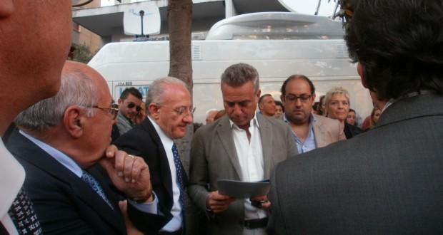 Vincenzo De Luca con Massimo Ghini
