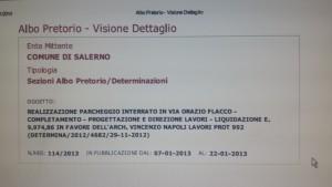 Determina di liquidazione di Enzo Napoli