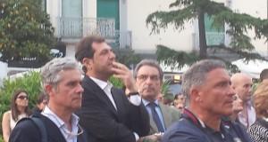 Ernesto Sica al comizio di ringraziamento del neo governatore De Luca