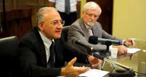Vincenzo De Luca e Giuseppe Zampino